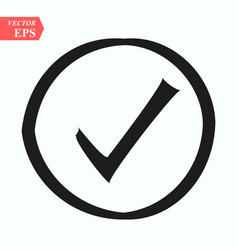 Symbol of checked thin black icon of multimedia vector