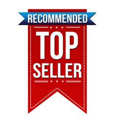 top seller banner design vector image