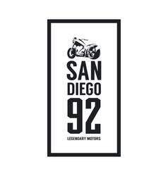 vintage motorcycle logo vector image