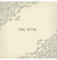 vintage tribal background vector image