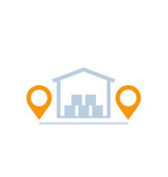 Warehouse storage unit icon vector