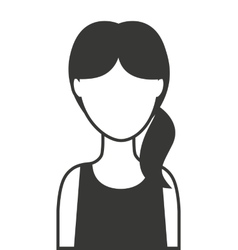 woman female silhouette icon vector image