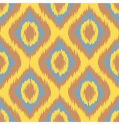 Yellow Seamless Camouflage Ogee in Ikat Weave vector