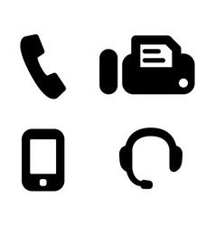 Contact phones vector image vector image