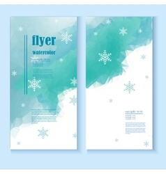 flyer template with a winter background vector image