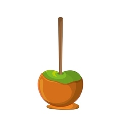 Sweet apple of fair food design vector