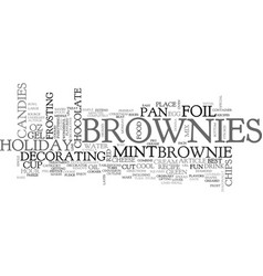best recipes holiday mint brownies text word vector image vector image