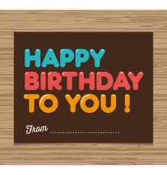 birthday card brown vector image