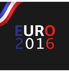 Euro 2016 vector image vector image