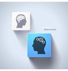 Human brain concept vector image vector image