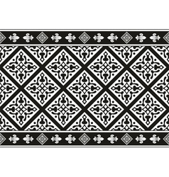 Seamless black-and-white gothic floral texture vector image vector image