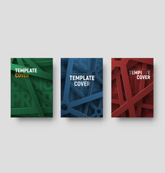 set of multicolored covers in a futuristic style vector image
