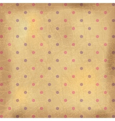 Vintage polka dots wallpaper vector image