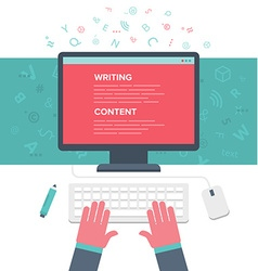 Writing an Article vector image