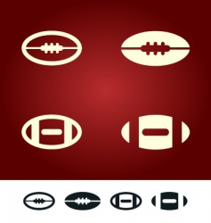 American football sign vector image vector image