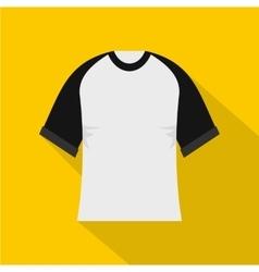 Baseball shirt icon flat style vector image vector image