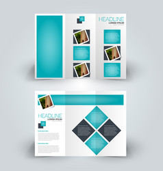 brochure mock up design template tri-fold vector image