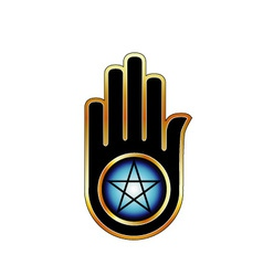 Hand with a Pentacle vector image vector image