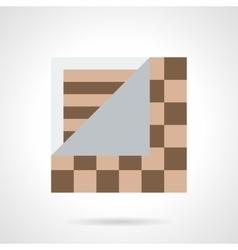 Linoleum flooring flat color icon vector image vector image