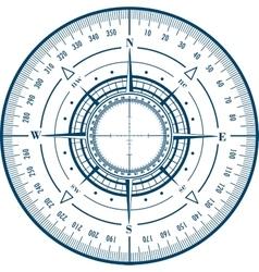 Radar compass rose vector