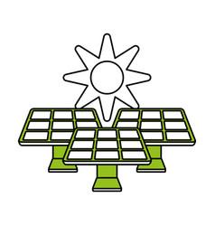 solar energy innovation vector image vector image