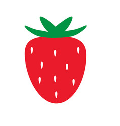 strawberry icon on white background strawberry vector image vector image