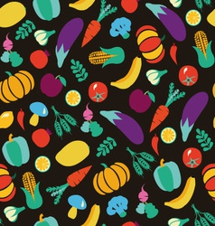 vegatables and fruits pattern 38 vector image vector image