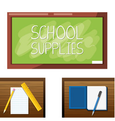 accesories school tools to study education vector image