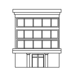 business building center facade office exterior vector image