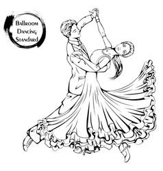 dance line ballroom dancing standard vector image vector image