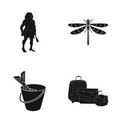 fish fishing delicacyand other web icon in black vector image