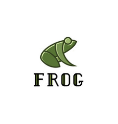 frog logos sign mark trend vector image vector image