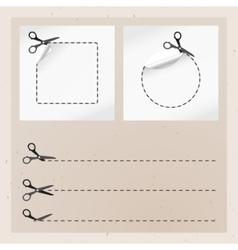 old paper scissors vector image vector image