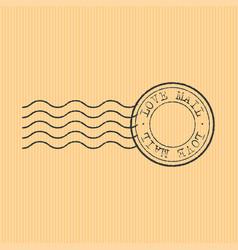 postal stamp sign on card board vector image