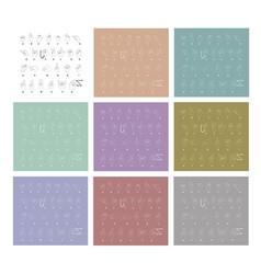 sketch set of hand sign language alphabet vector image vector image