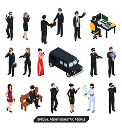 special agent isometric people vector image vector image