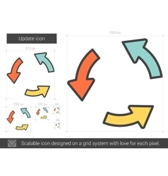 Update line icon vector image