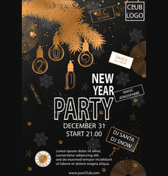 2019 happy new year party background for your vector image