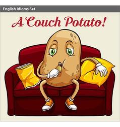 A couch potato vector
