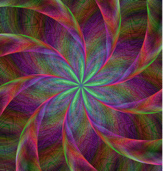 Abstract shiny colorful fractal spiral background vector image