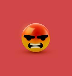 Angry mad emoji emoticon social media smiley vector