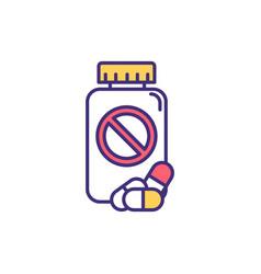 Antibiotic resistance rgb color icon vector