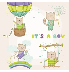 Baby Cat Set - for Baby Shower Cards vector image