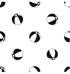 Beach ball pattern seamless black vector