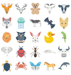 Bird and animal icons pack which can easil vector