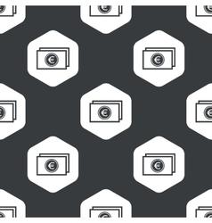 Black hexagon euro banknote pattern vector