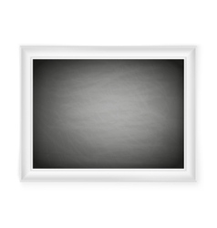 Blank chalkboard in light frame EPS 10 vector image
