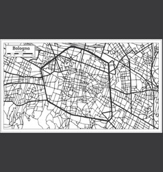 Bologna italy city map in retro style outline map vector