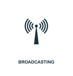 broadcasting icon premium style design from vector image