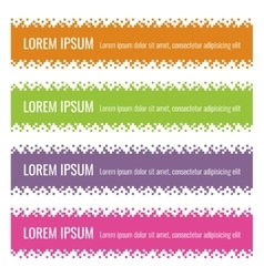 Business banners headers footers titles vector